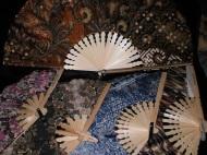 Souvenir kipas batik, jual kipas batik